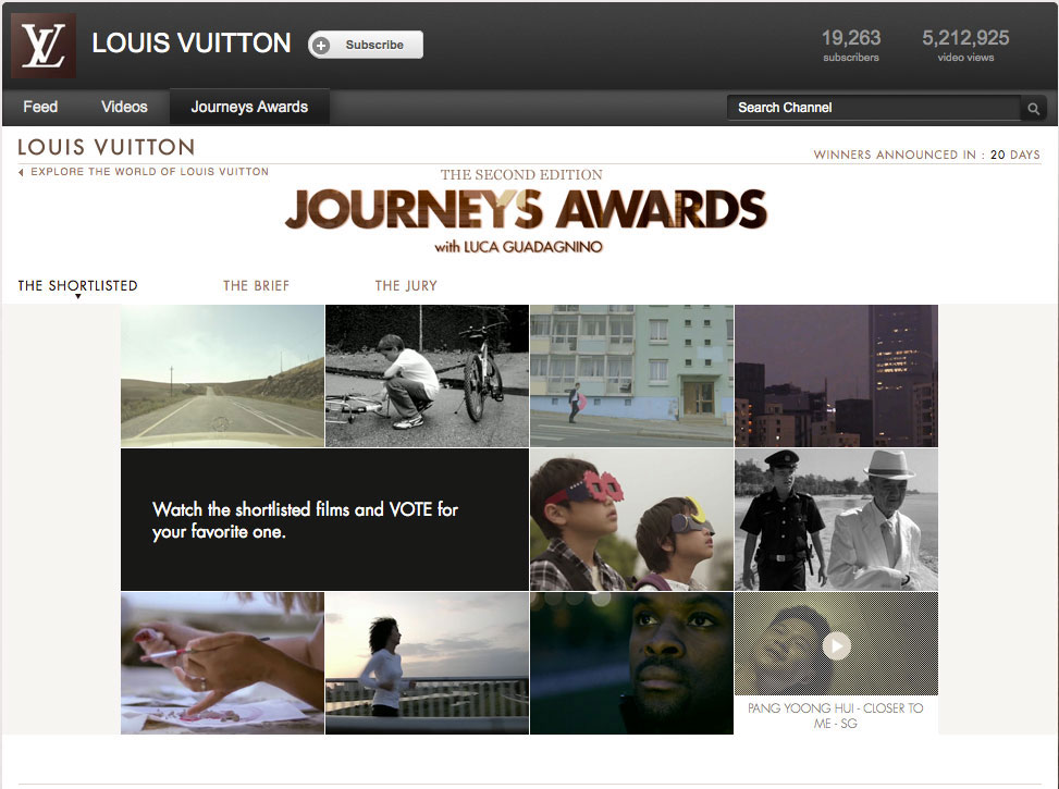 Louis Vuitton Journey Awards 2nd Edition